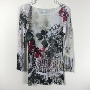 CACHE FLORAL BLOCKOUT TOP